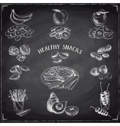 set of healthy snacks vector image