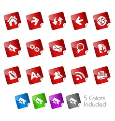 Web Stickers vector image