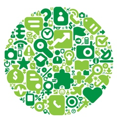Green concept of human world vector image