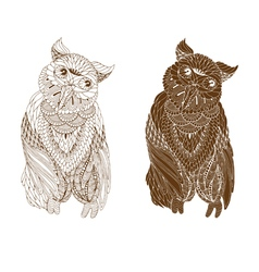 owl on a white background vector image vector image