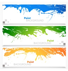 Set of colored banners vector image