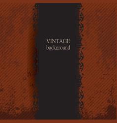 vintage background with golden ornament vector image