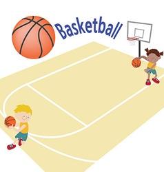 Basketballtemplete 02 vector