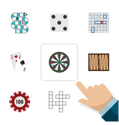 flat icon play set of sea fight dice arrow and vector image vector image