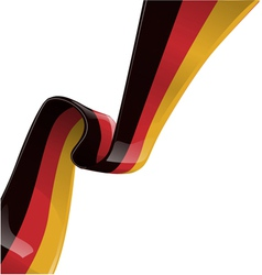 germany RIBBON FLAG vector image