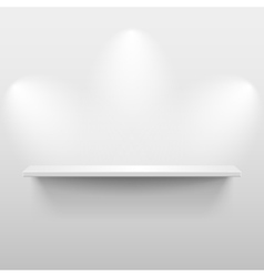 Shelf with shadow in empty white room vector image