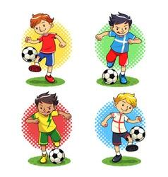 Soccer Boys vector image