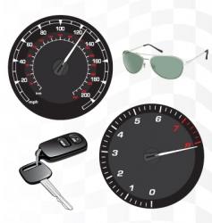 tachometer and speedometer vector image