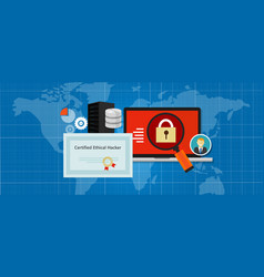 certified ethical hacker security expert in vector image vector image