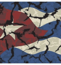 Cuban grunge flag Grunge effect can be cleaned vector image