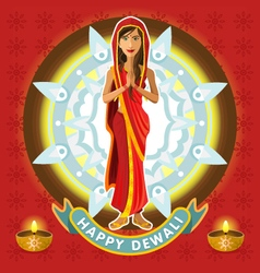 India Dewali Deepavali Celebration vector image