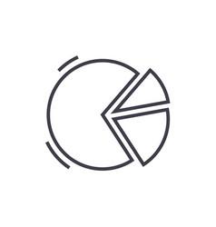 pie graph line icon sign o vector image vector image
