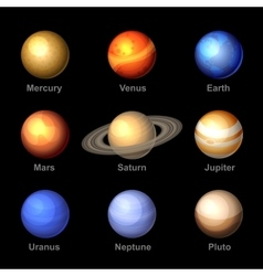 Planets of Solar System Icons vector image vector image