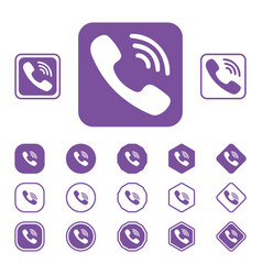 set of viber flat icon on a white background vector image vector image