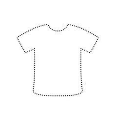 t-shirt sign black dotted icon on white vector image vector image