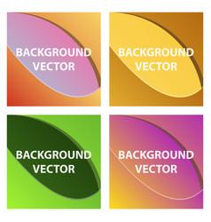 Abstract background set art template design vector