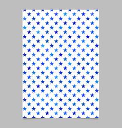 Abstract seamless pentagram star pattern flyer vector