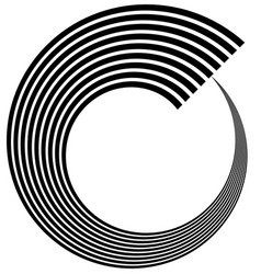 Abstract spiral volute helix element art vector