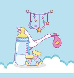 Baby shower cartoons vector