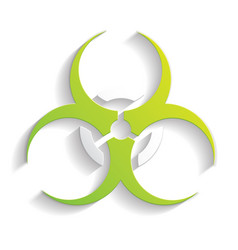 Biohazard icon paper vector