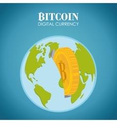 Bitcoin design vector