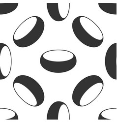 Bowl icon seamless pattern on white background vector
