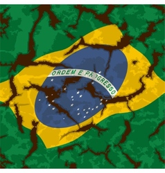 Brazilian grunge flag Grunge effect can cleaned vector