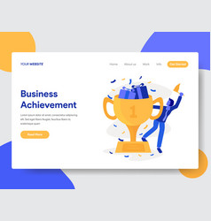 business achievement concept vector image
