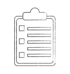 business clipboard report sheet document vector image