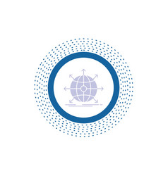business global international network web glyph vector image