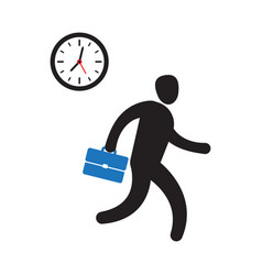 business person rushing in a hurry to get on time vector image