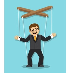 Businessman puppet vector