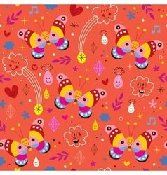 Butterflies nature seamless pattern vector