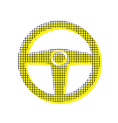 car driver sign yellow icon with square vector image