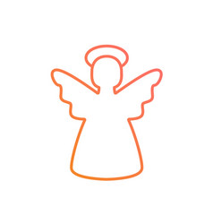 colorful gradient pink to orange christmas angel vector image