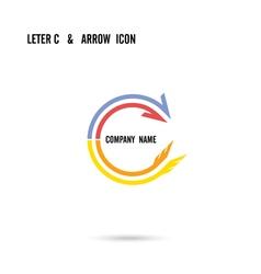 Creative letter C icon logo design vector image