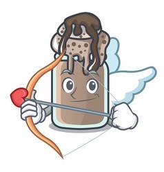 cupid milkshake character cartoon style vector image