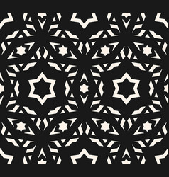 delicate ornamental pattern geometric stars vector image