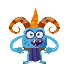 Devil troll cute funny fairytale character vector