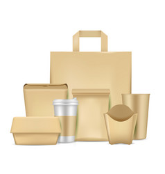eco friendly paper package set vector image