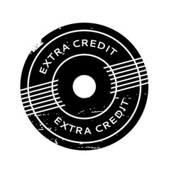 Extra credit rubber stamp vector