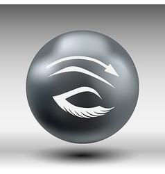 eyelash pinching eye icon makeup isolated glamour vector image