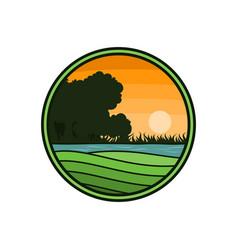 farm circle logo vector image