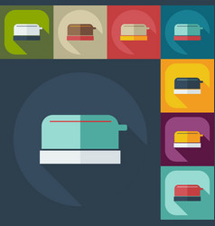 Flat modern design with shadow icons toaster vector