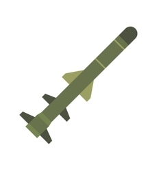 Flying military missile flat icon vector image