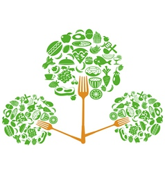 food fork tree vector image