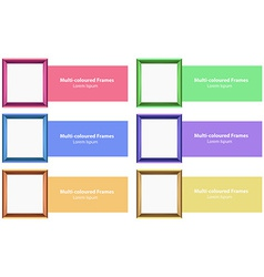 Frames and design vector image vector image