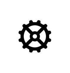 gear mechanism flat icon vector image