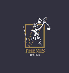 goddess justice themis vector image