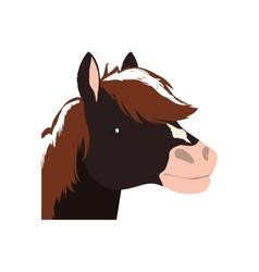 Horse animal farm pet character icon vector